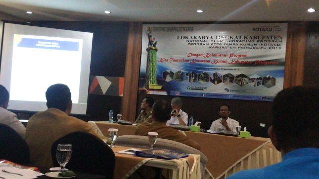 Lokakarya Program Kota Tanpa Kumuh Tingkat Kabupaten Pringsewu Tahun 2019